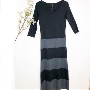 Renee C. | Stitchfix Black & Gray Maxi Dress